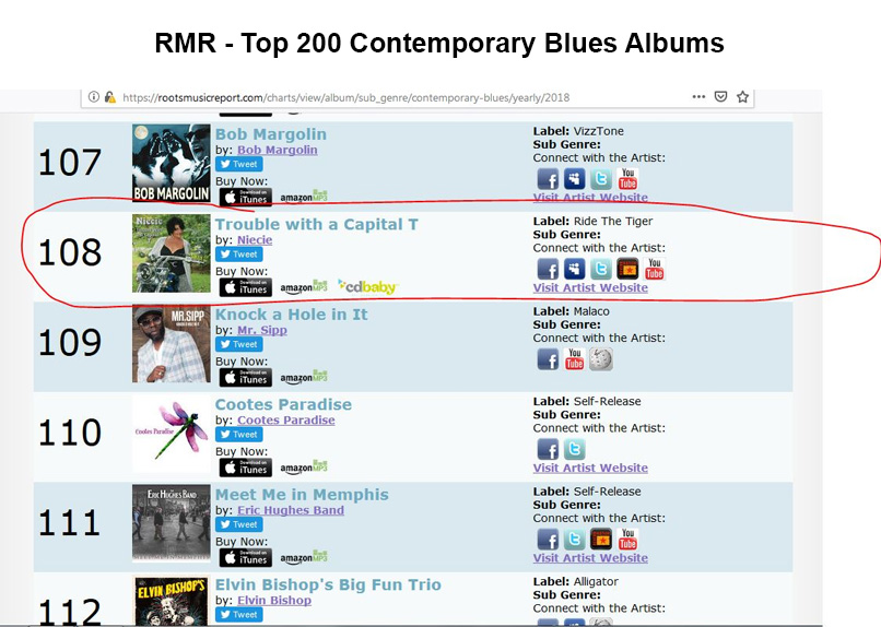 RMR Top Contemporary Blues Albums 2018